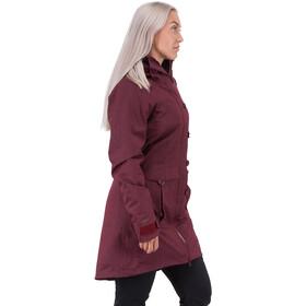Bergans Bjerke 3in1 Abrigo Mujer, zinfandel red/solid charcoal